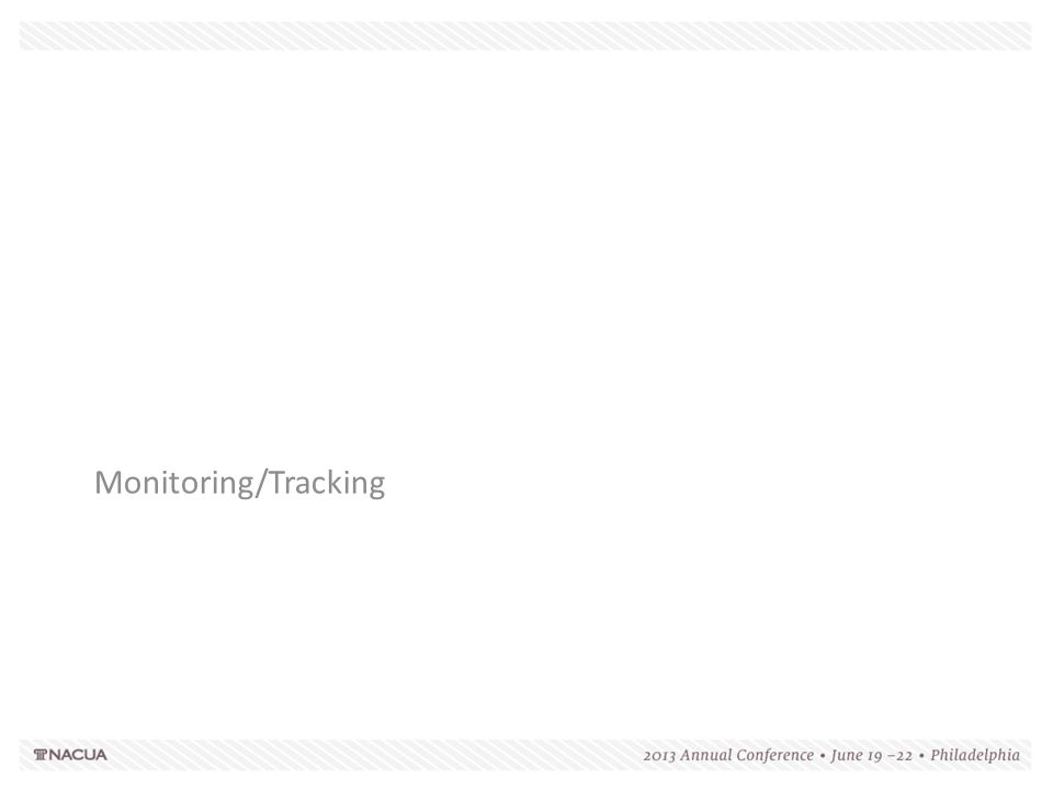 Monitoring/Tracking 189