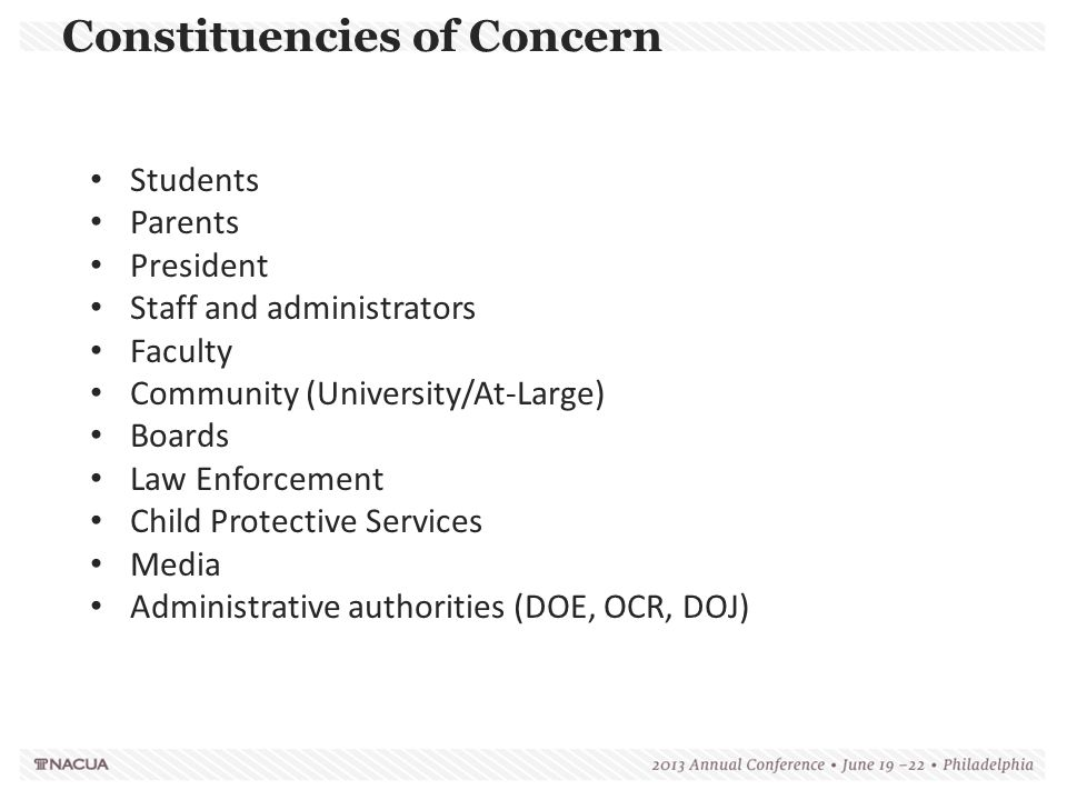 Constituencies of Concern