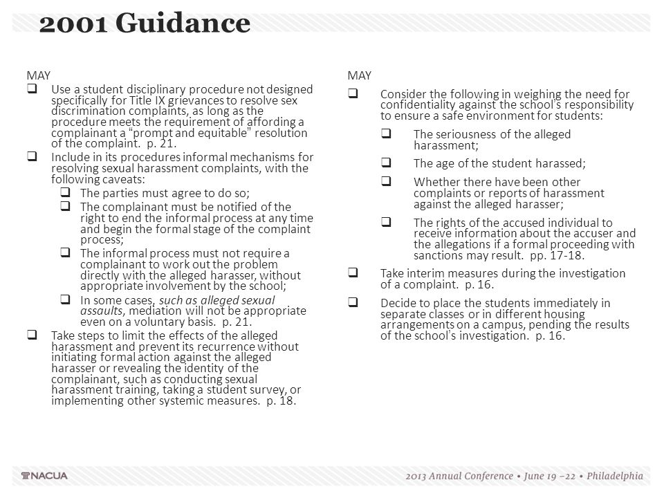 2001 Guidance MAY.