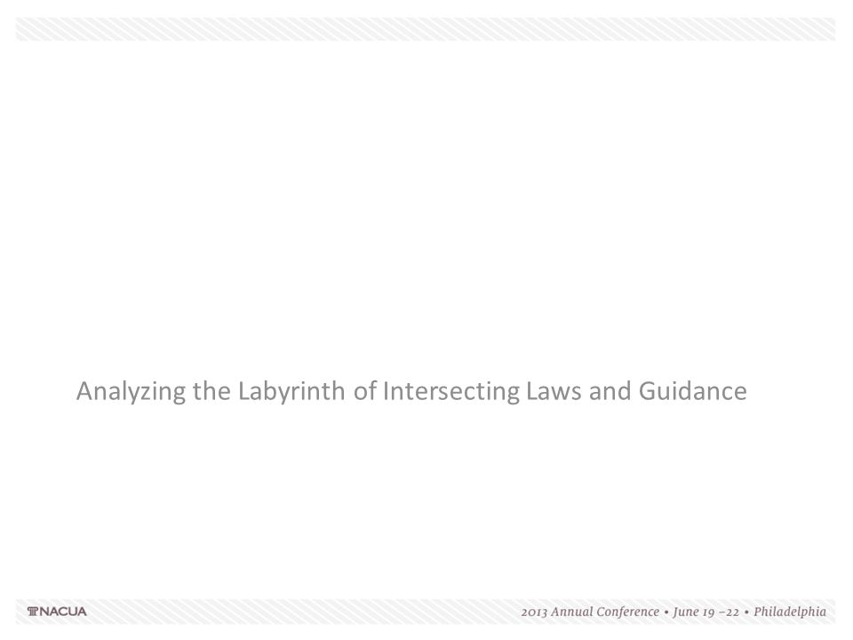 Analyzing the Labyrinth of Intersecting Laws and Guidance