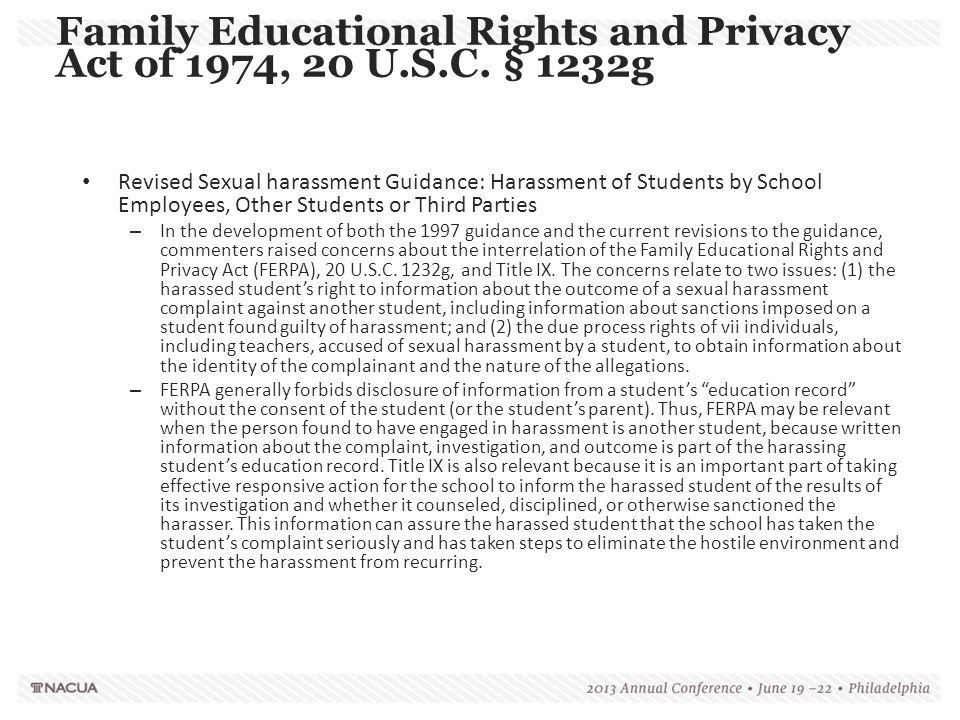 Family Educational Rights and Privacy Act of 1974, 20 U.S.C. § 1232g