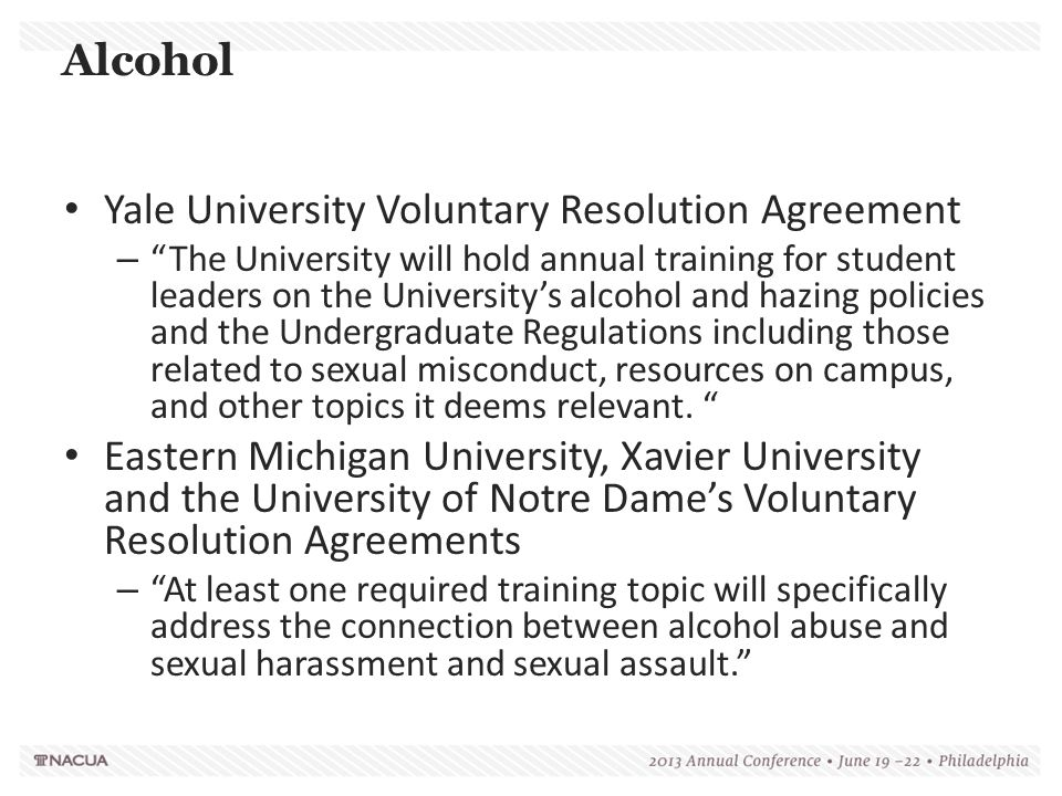 Yale University Voluntary Resolution Agreement