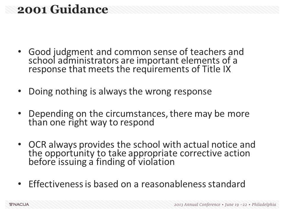 2001 Guidance