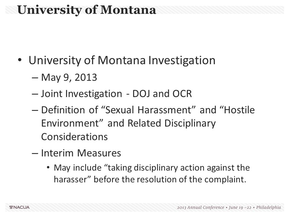 University of Montana Investigation
