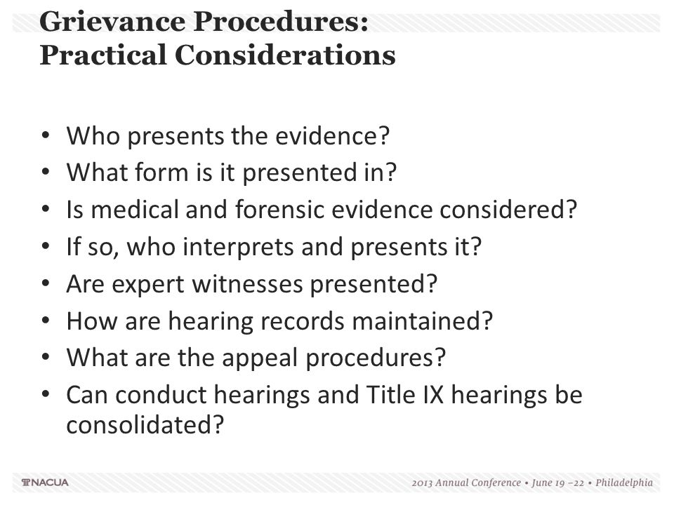 Grievance Procedures: Practical Considerations