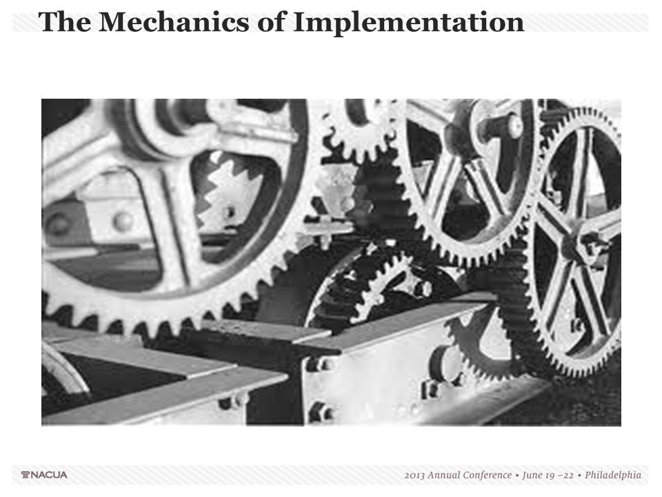 The Mechanics of Implementation