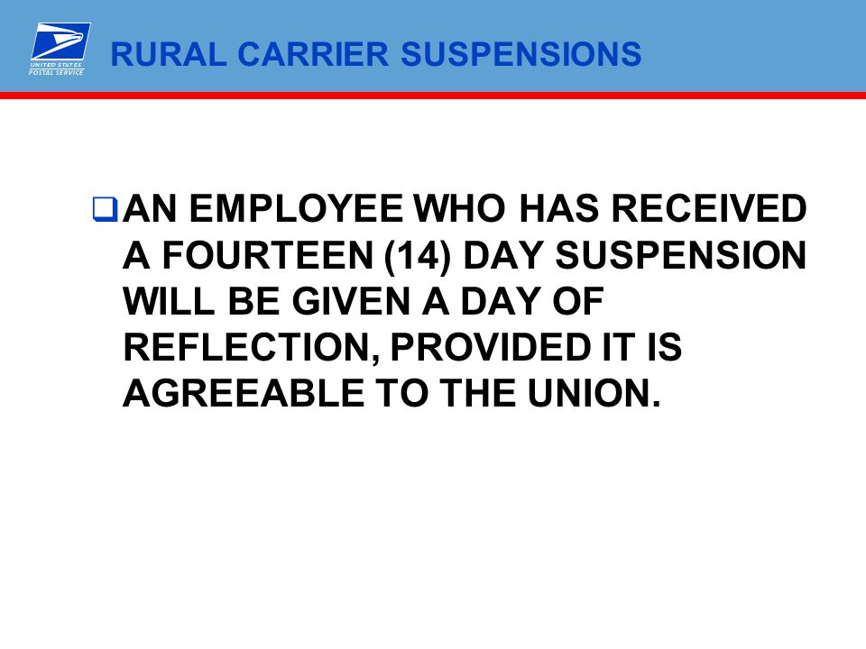 RURAL CARRIER SUSPENSIONS