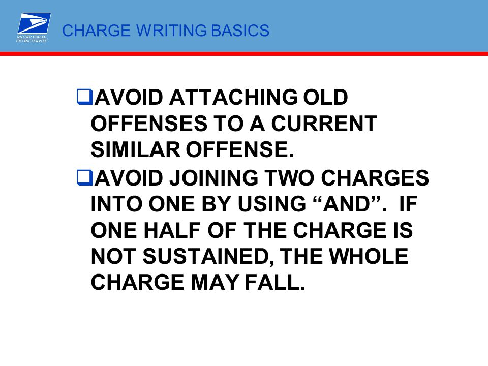 AVOID ATTACHING OLD OFFENSES TO A CURRENT SIMILAR OFFENSE.
