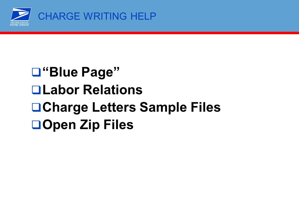 Charge Letters Sample Files Open Zip Files