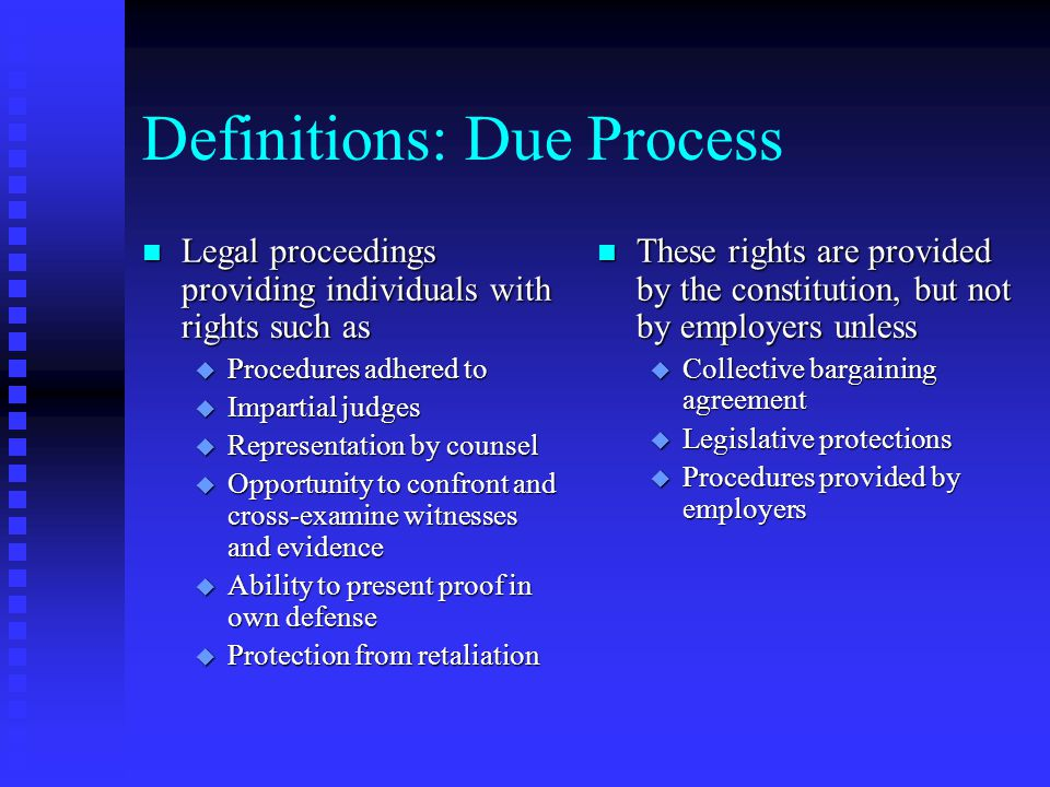 Definitions: Due Process