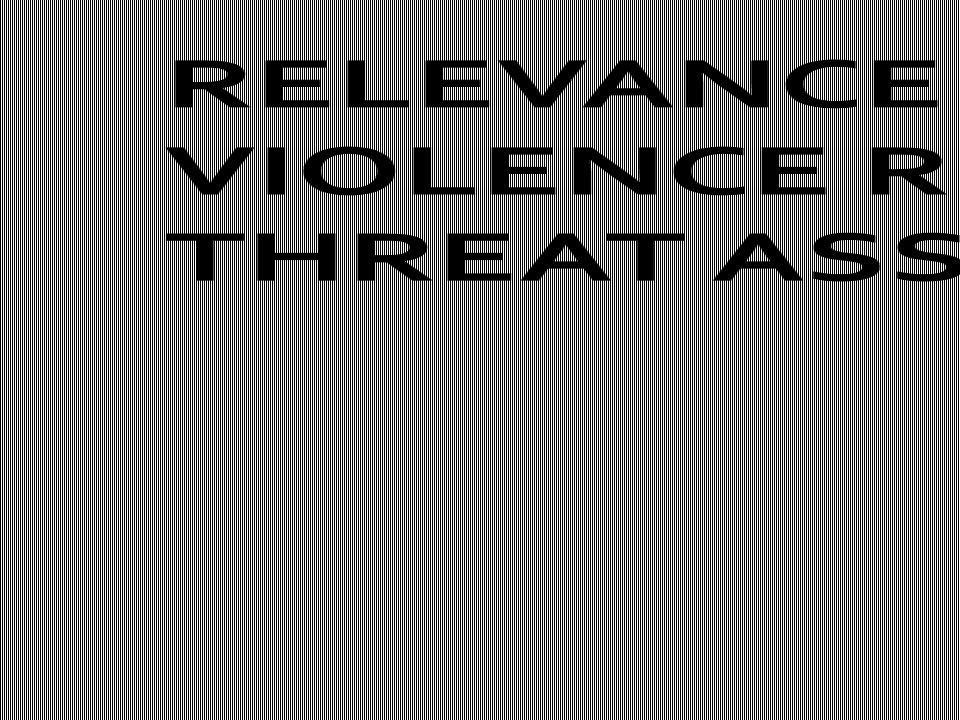 RELEVANCE OF VIOLENCE RISK AND THREAT ASSESSMENT