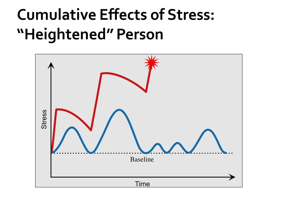 Cumulative Effects of Stress: Heightened Person
