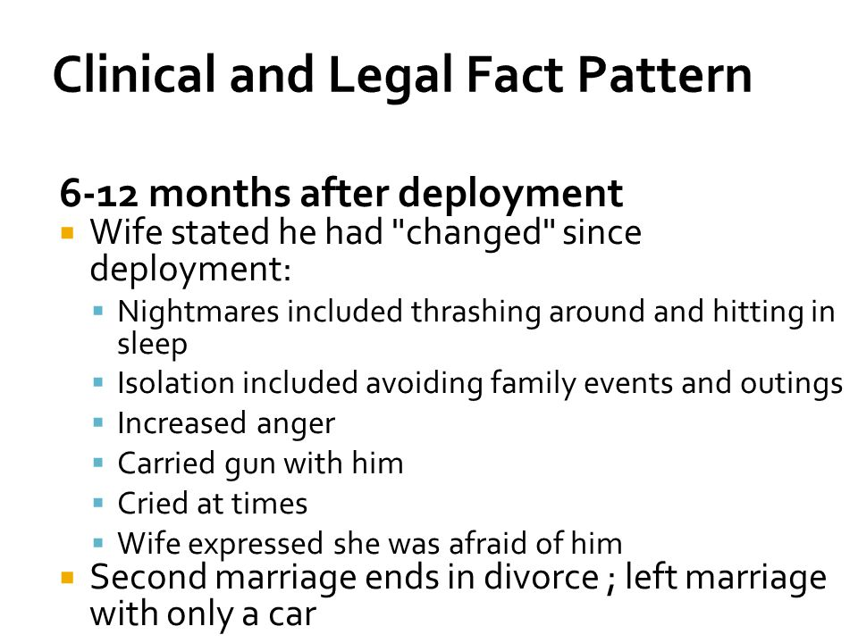 Clinical and Legal Fact Pattern