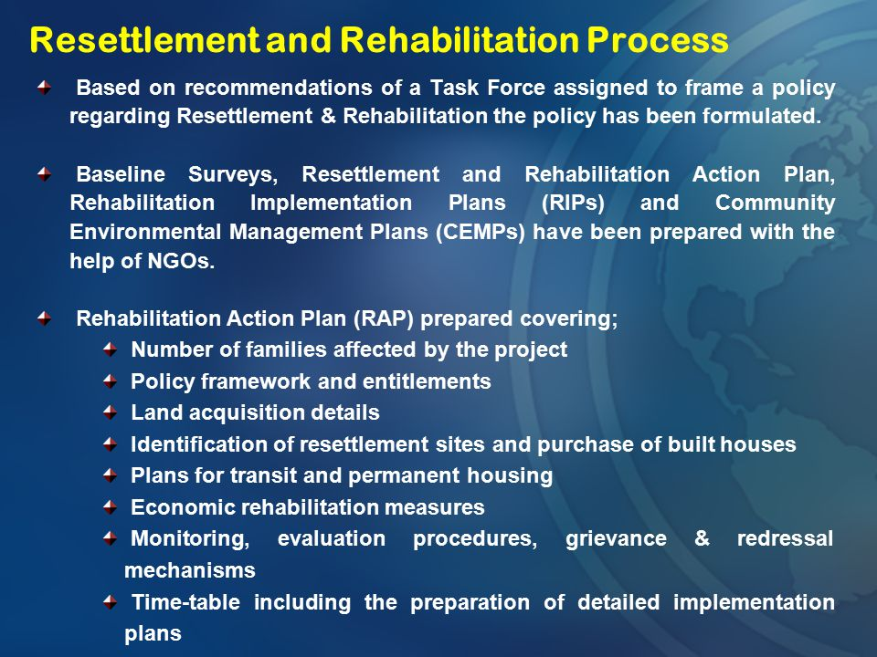 Resettlement and Rehabilitation Process