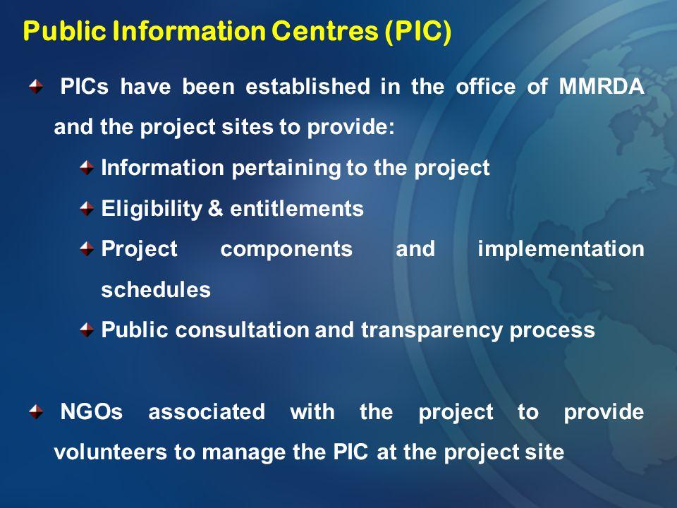 Public Information Centres (PIC)