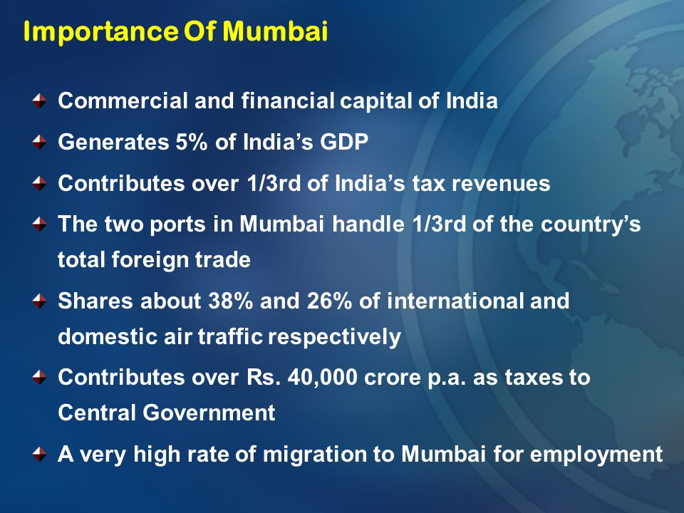 Importance Of Mumbai Commercial and financial capital of India