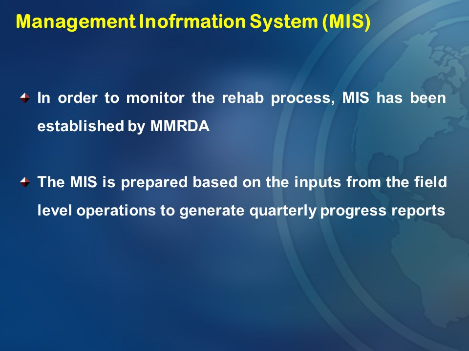 Management Inofrmation System (MIS)