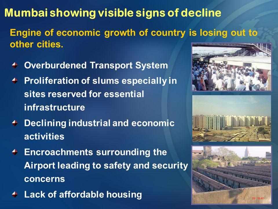 Mumbai showing visible signs of decline