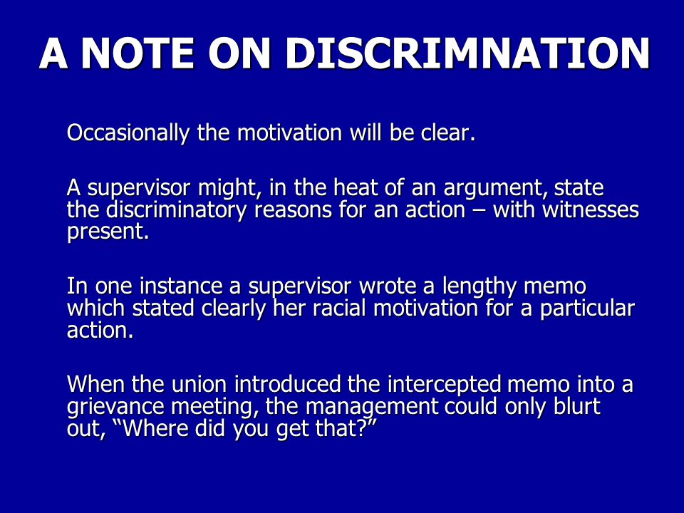 A NOTE ON DISCRIMNATION