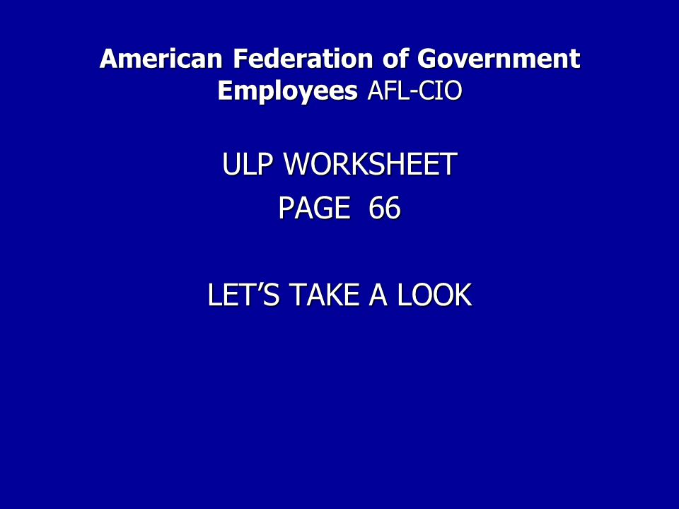 American Federation of Government Employees AFL-CIO