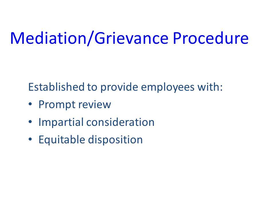 Mediation/Grievance Procedure