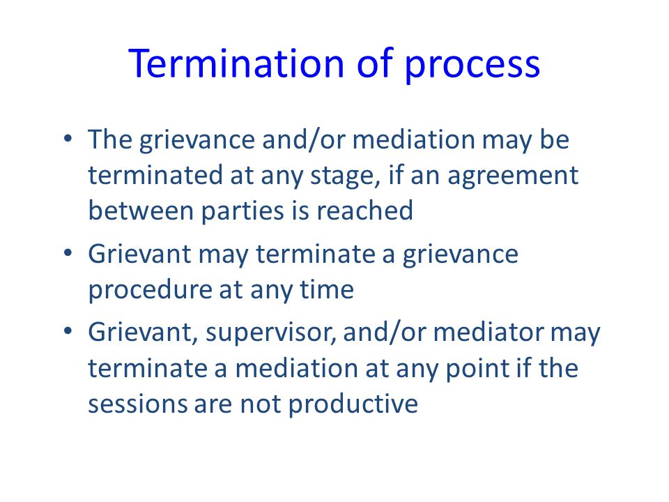 Termination of process