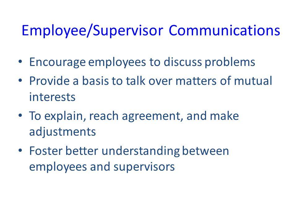 Employee/Supervisor Communications