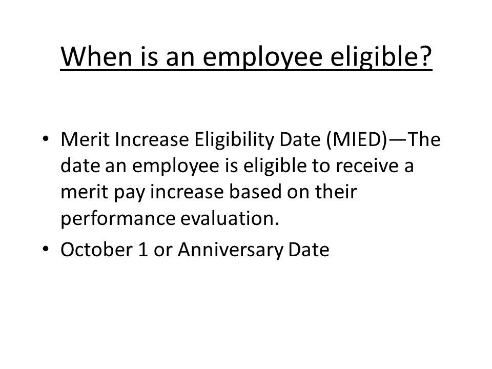 When is an employee eligible