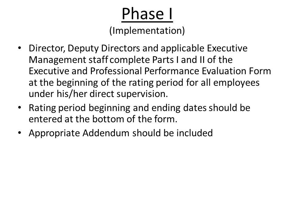 Phase I (Implementation)