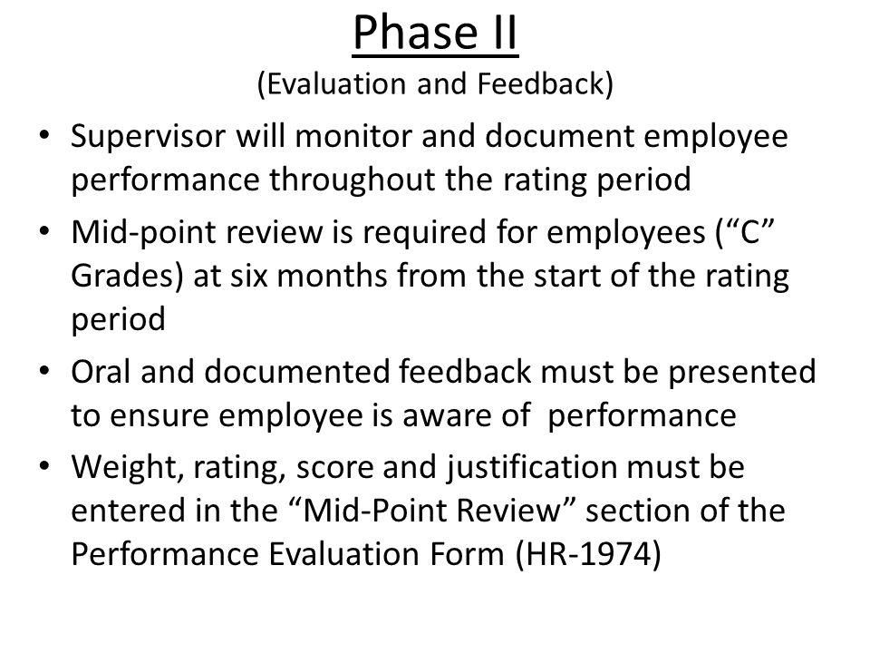 Phase II (Evaluation and Feedback)
