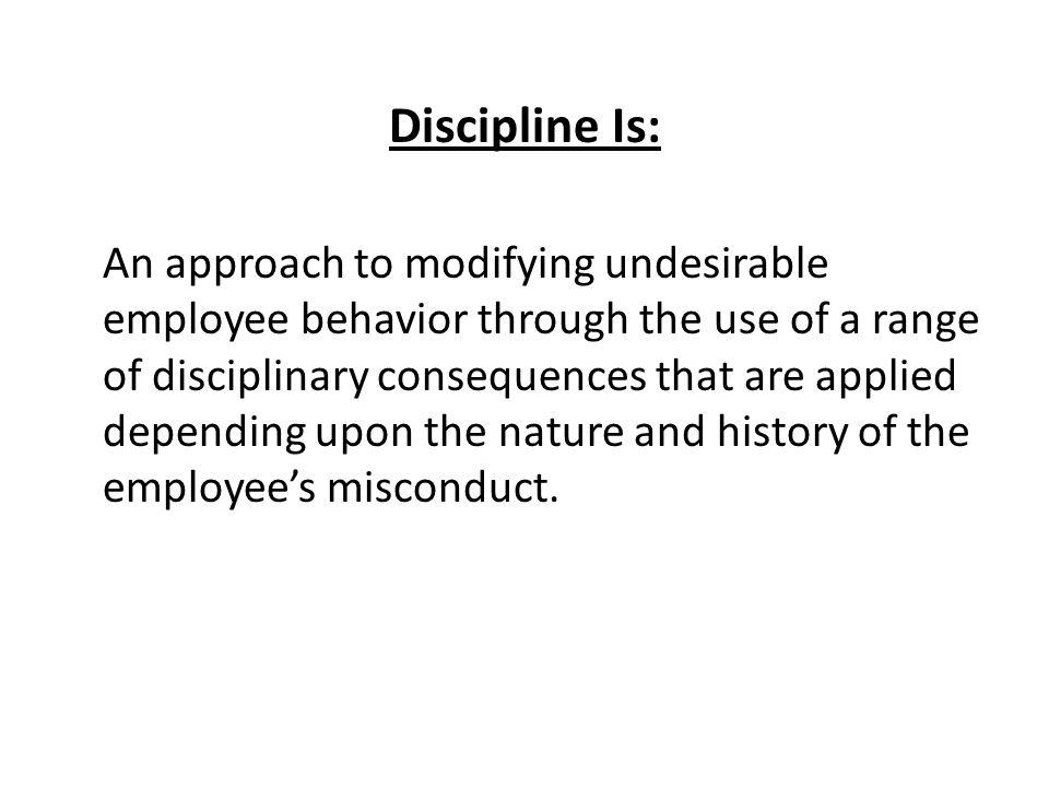 Discipline Is: