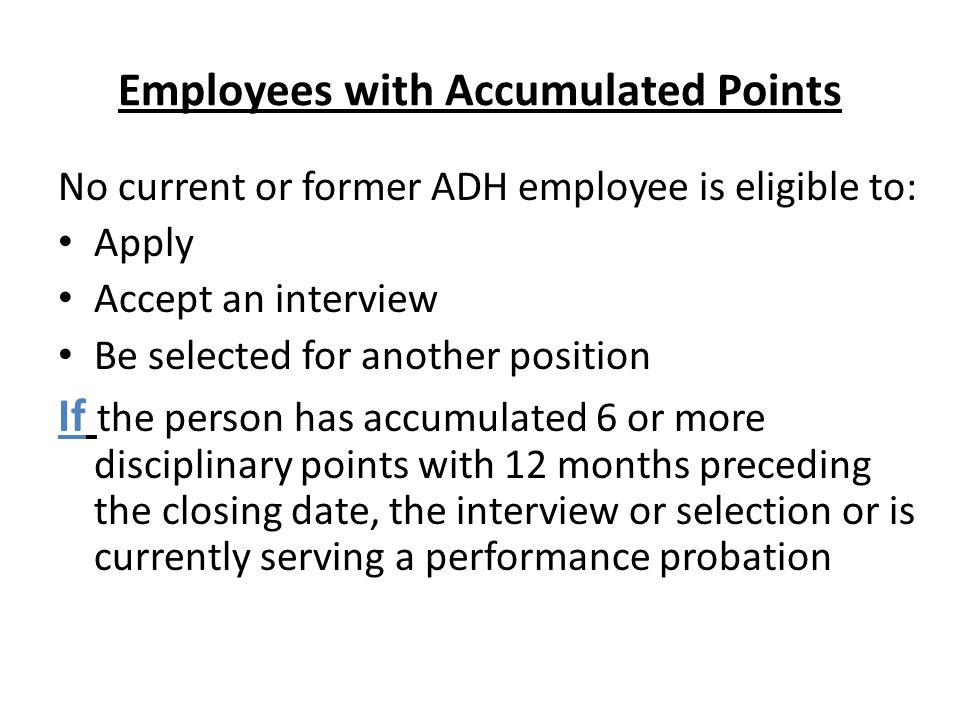 Employees with Accumulated Points