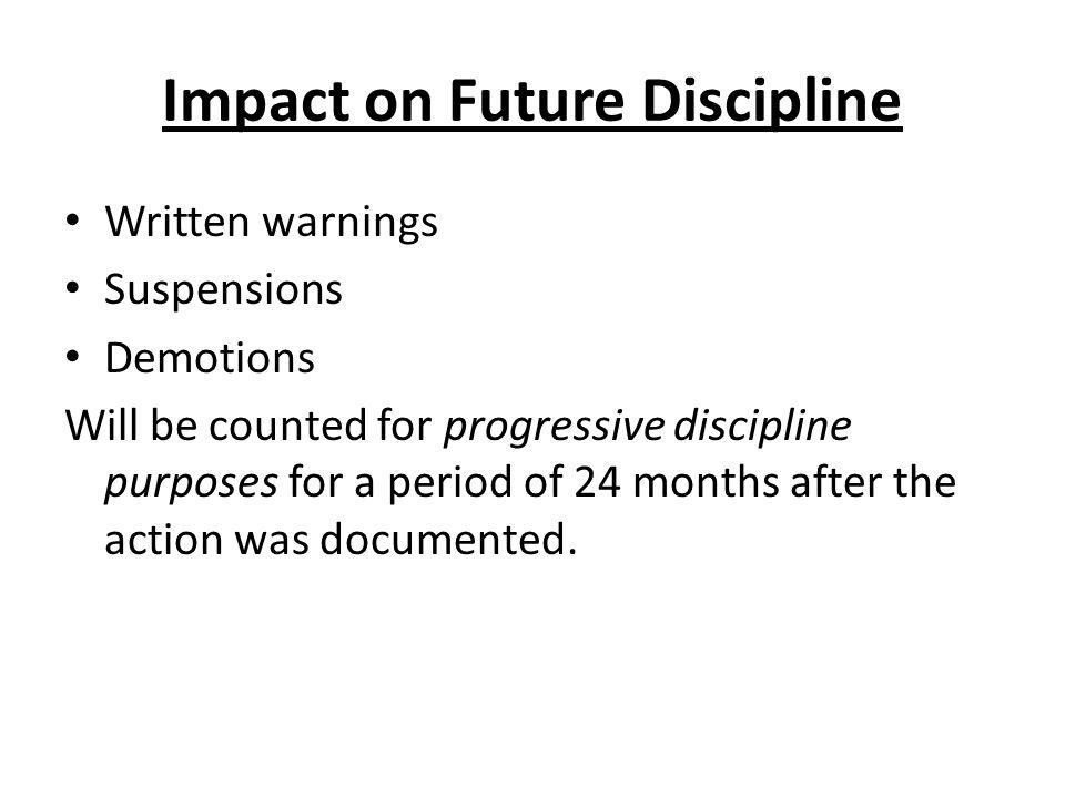 Impact on Future Discipline