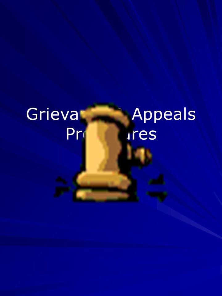 Grievance & Appeals Procedures