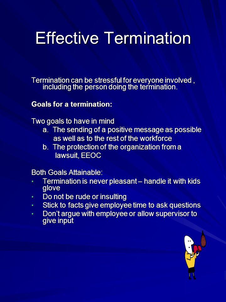 Effective Termination