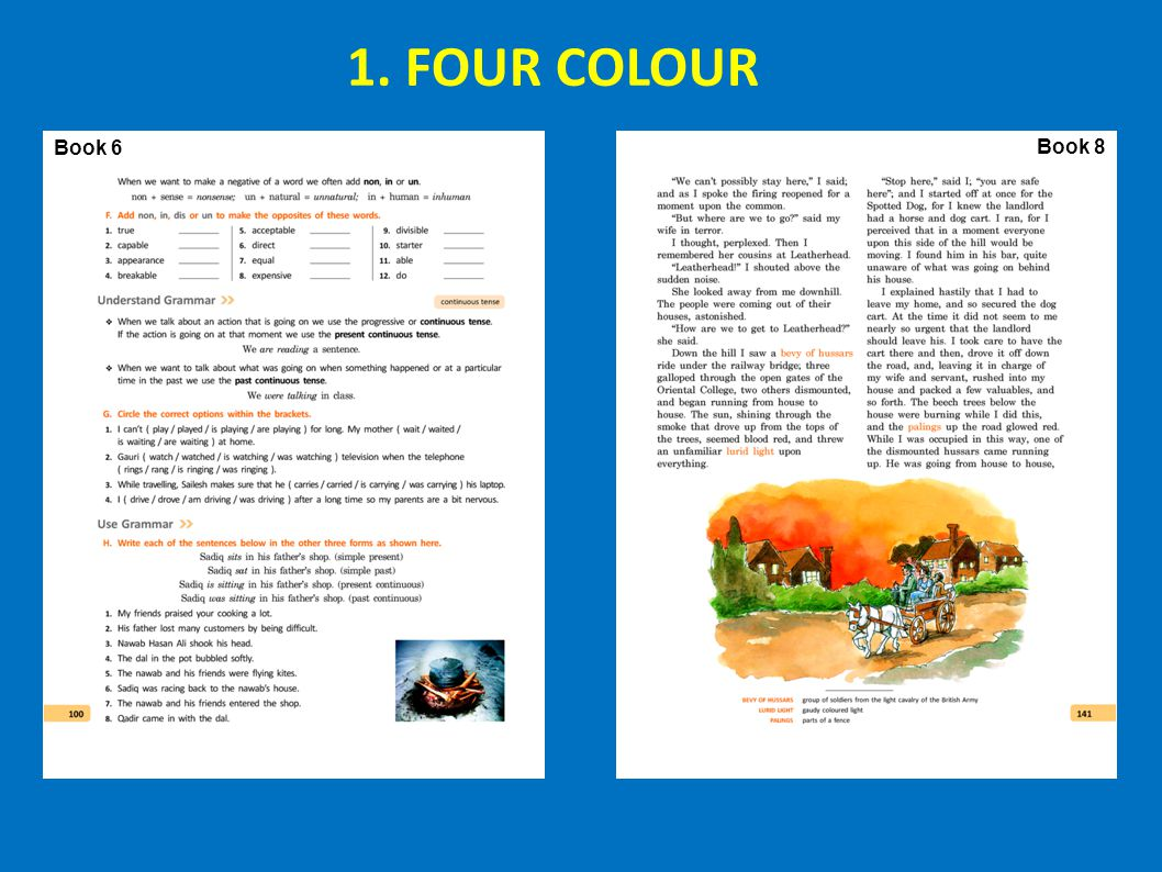 1. FOUR COLOUR Book 6 Book 8