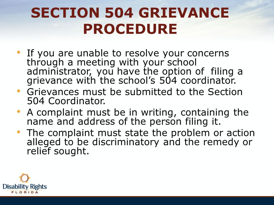 SECTION 504 GRIEVANCE PROCEDURE