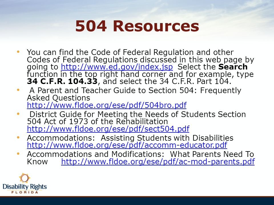 504 Resources