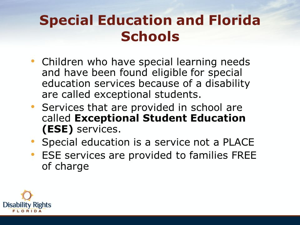 Special Education and Florida Schools