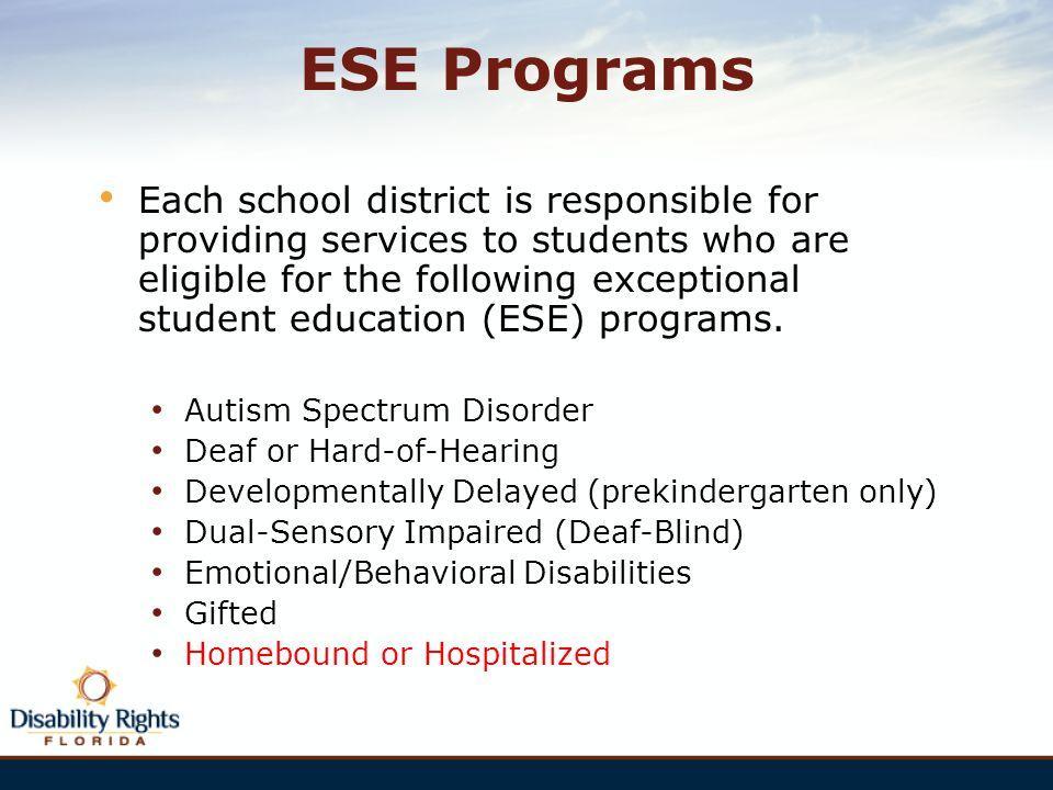ESE Programs