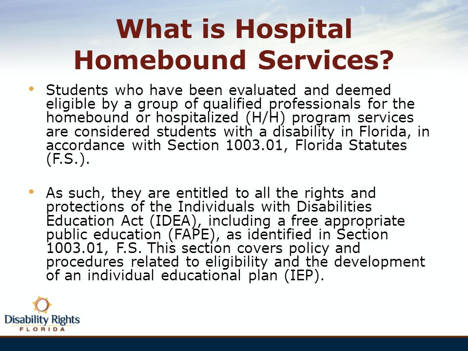 idea homebound services transportation the wrightslaw way 35 328