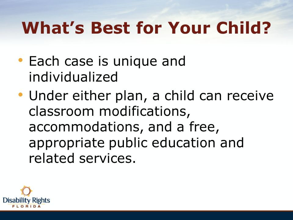 What's Best for Your Child