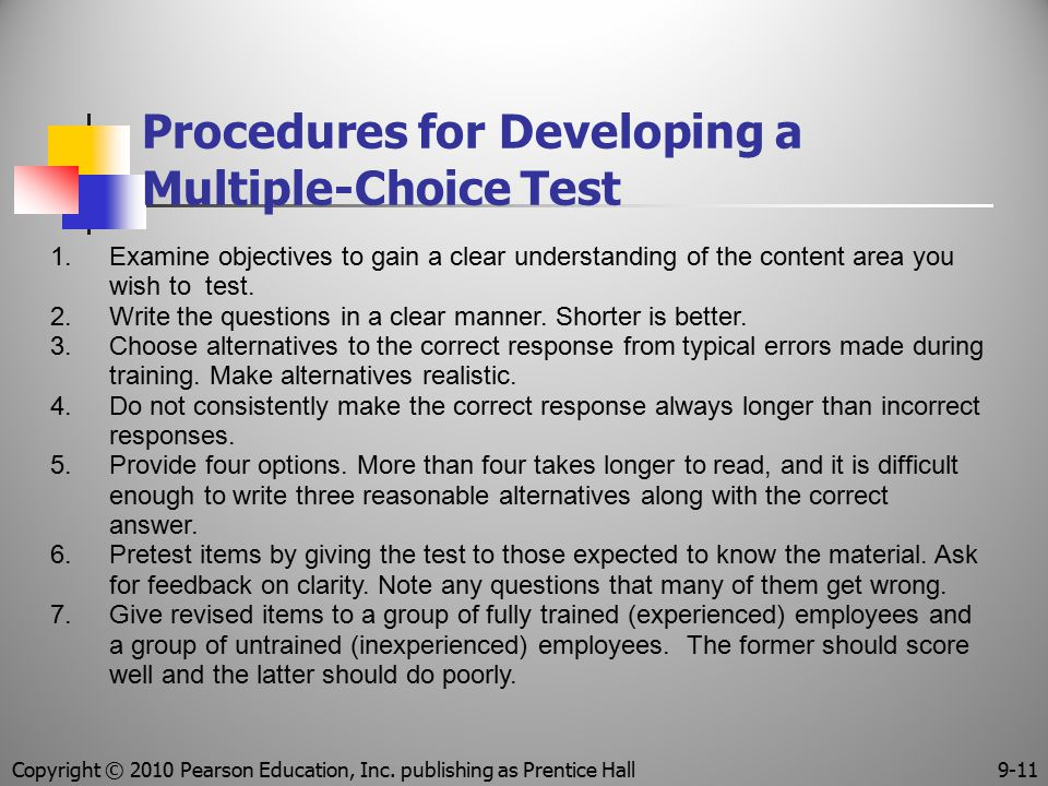 Procedures for Developing a Multiple-Choice Test