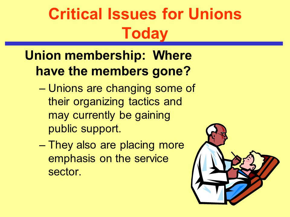 Critical Issues for Unions Today