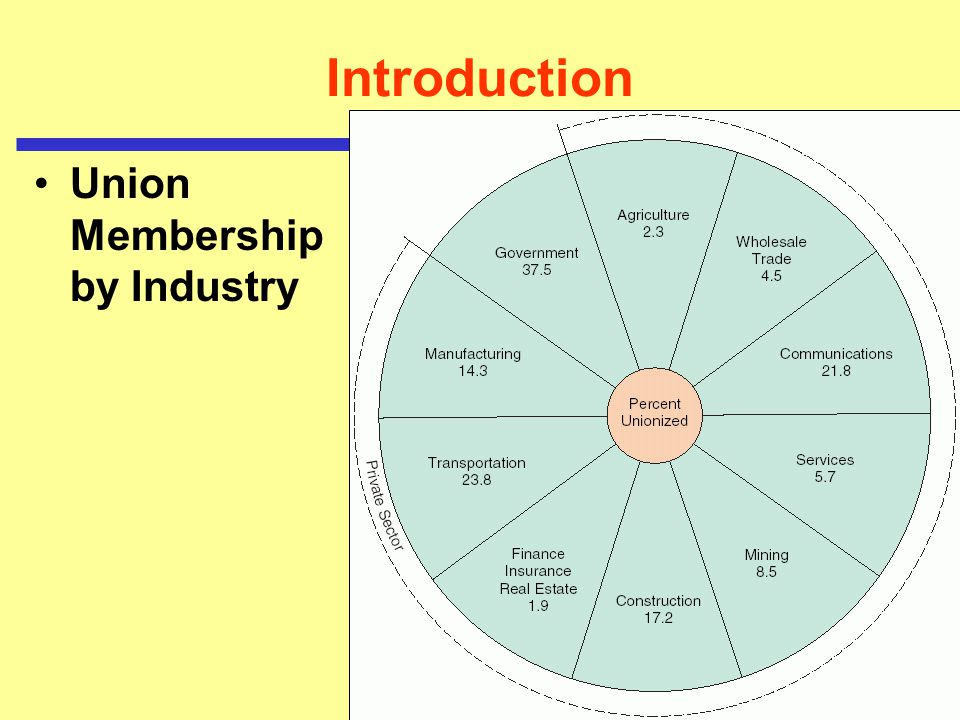 Introduction Union Membership by Industry