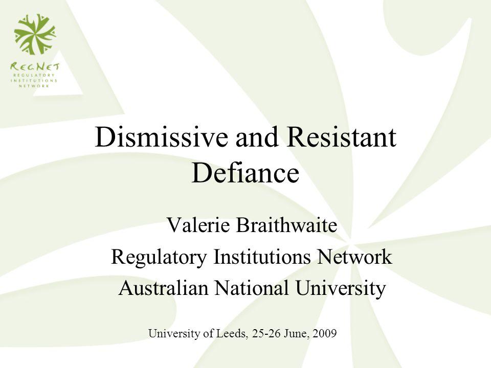 Dismissive and Resistant Defiance