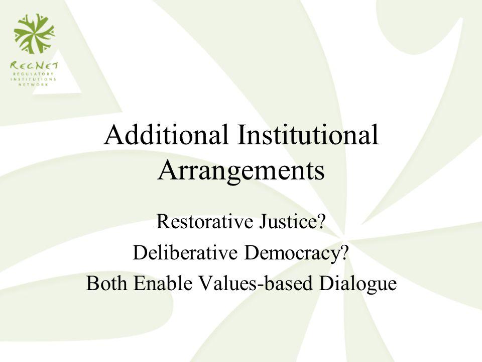 Additional Institutional Arrangements