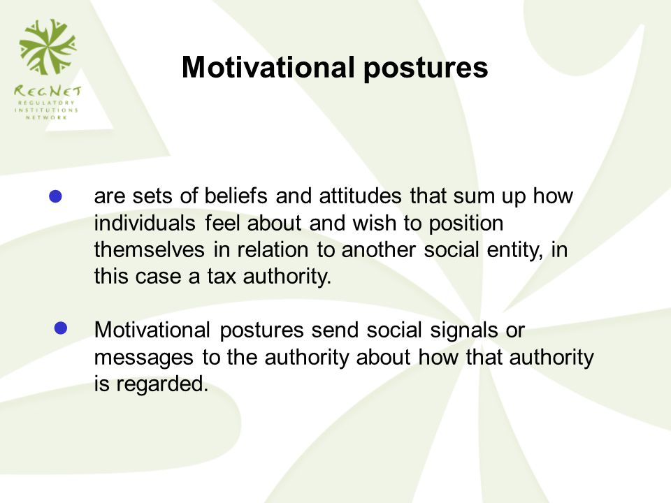 Motivational postures