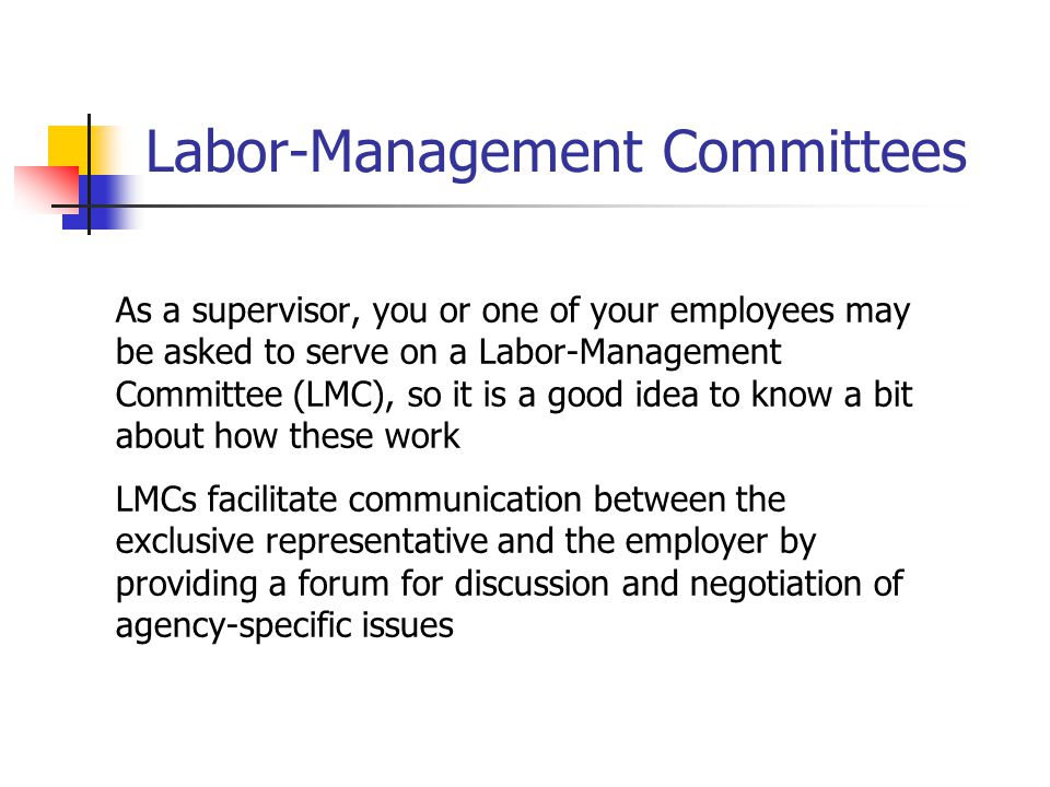 Labor-Management Committees