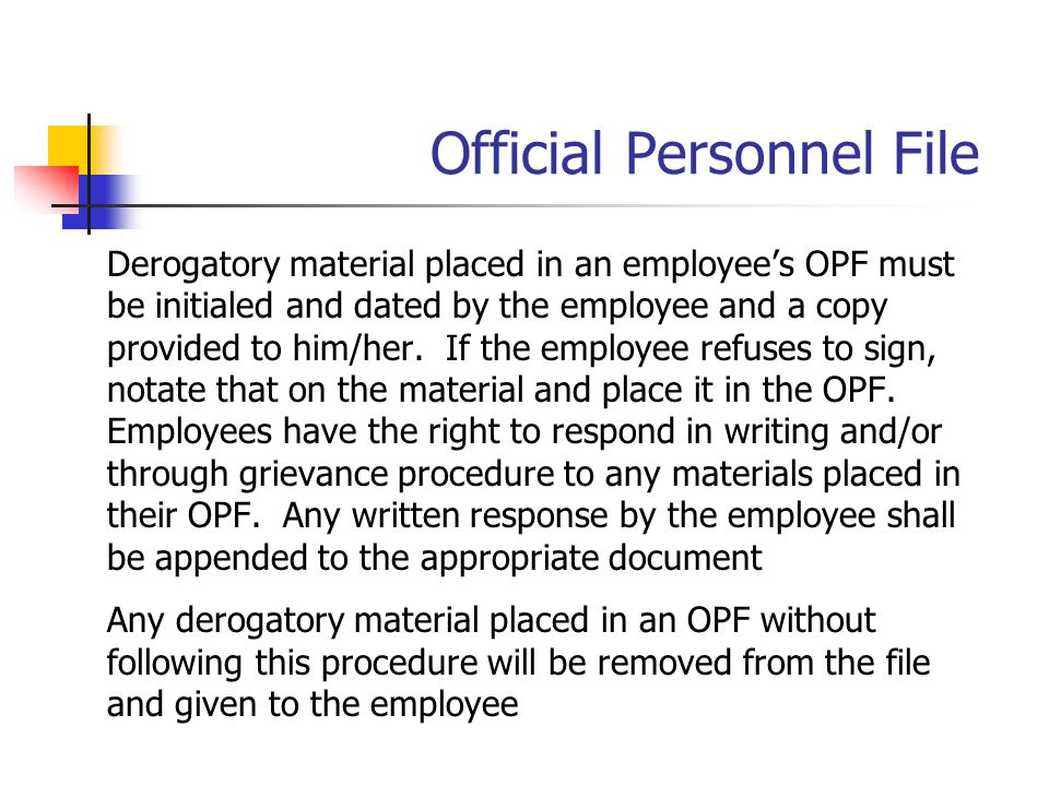 Official Personnel File